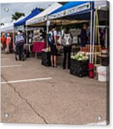 Farmers Market Before The Crowd Acrylic Print