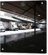 Farmers Market In The Snow Acrylic Print