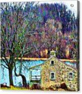 Farmhouse By The Lake Acrylic Print