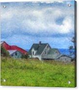 Farmhouse By The Sea Acrylic Print