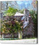 Farmhouse On A Cold Winter Morning. Acrylic Print