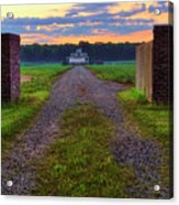 Farmhouse Sunrise - Arkansas - Landscape Acrylic Print