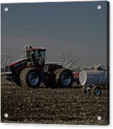 Farming April In The Field On The Case 500 Pa Acrylic Print