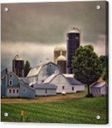Farming Before The Storm Finger Lakes New York 04 Acrylic Print