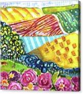 Farming Patterns Acrylic Print