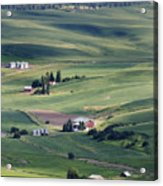 Farmland In Eastern Washington State Acrylic Print