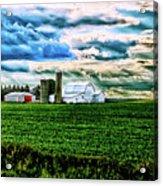 Farmland In  Hdr Acrylic Print