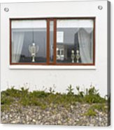 Facade - A Window With A Trophy To Show Acrylic Print