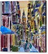 Fascinating Palermo Sicily Italy Street Scene Acrylic Print