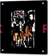 Punk Rock Alternative Style Design Acrylic Print