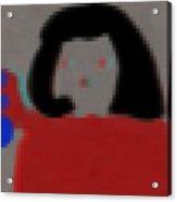 Fashion Pixel Lady Acrylic Print