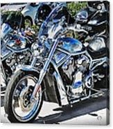 Fat And Glitzy Harleys Acrylic Print