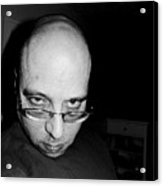 Fat Bald And Unhappy Acrylic Print
