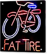Fat Tire Neon Sign Acrylic Print
