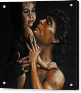 Father And Child Acrylic Print