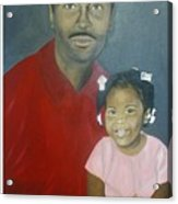 Father And Daughter Acrylic Print