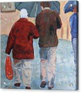 Father And Son Promenade Acrylic Print