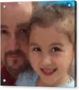 Father Daughter Acrylic Print