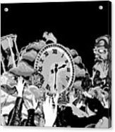 Father Time In Black And White Acrylic Print