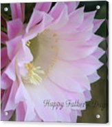 Fathers Day Cactus Acrylic Print
