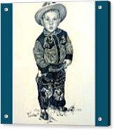 Father's Day Card - Little Buckaroo Acrylic Print by Carmen Del Valle