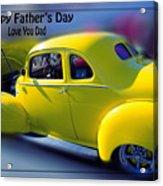 Father's Day W Frame Acrylic Print