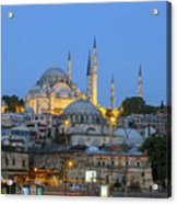 Fatih District In The Morning,istanbul. Acrylic Print