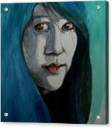 Fatima Acrylic Print by Ray Agius