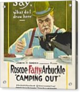 Fatty Arbuckle In Camping Out 1919 Acrylic Print