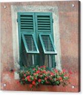 Faux  Painting Window  Acrylic Print