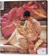 Favourite Poet Lawrence Alma-tadema Acrylic Print