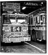 fdny fire station with engine 54 and ladder 5 battalion 9 New York City USA Acrylic Print