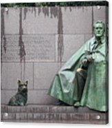 Fdr Memorial - Neither New Nor Order Acrylic Print