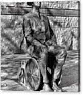 Fdr Memorial Sculpture In Wheelchair Acrylic Print