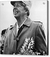 Fdr Presidency. Eleanor Roosevelt Acrylic Print by Everett