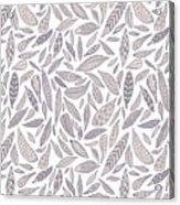 Feather Pattern Acrylic Print