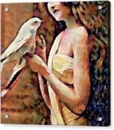 Feathered Confidant Acrylic Print