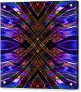 Feathered Stained Glass Acrylic Print