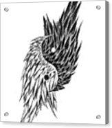 Feathered Ying Yang  Acrylic Print