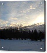February Dawn Clouds Acrylic Print