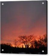 February Morning Red Sky Acrylic Print