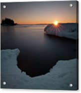 February Sunrise In Sturgeon Bay Acrylic Print