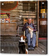 Feed The Dog Acrylic Print
