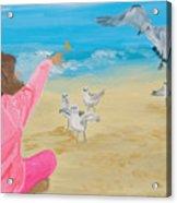 Feeding The Birds Acrylic Print