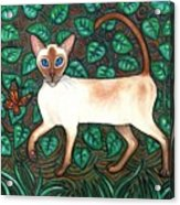 Felina And The Monarch Acrylic Print