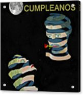 Feliz Cumpleanos  Happy Birthday Moonlight And Roses Acrylic Print