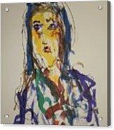 Female Face Study Cc Acrylic Print