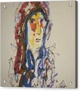 Female Face Study N Acrylic Print