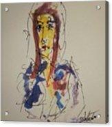 Female Face Study S Acrylic Print