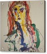 Female Face Study V Acrylic Print